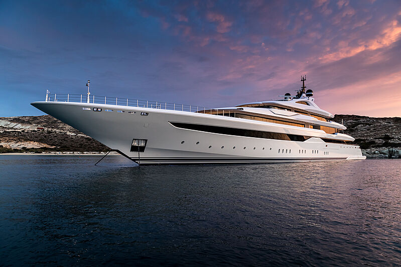 The recently launched 95metre motoryacht  O'Pari was designed and built specifically for the charter market by the Greek shipyard 'Golden Yachts'.